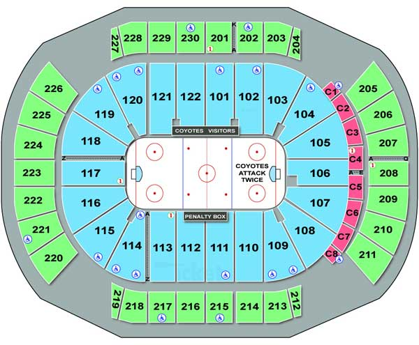 Seating Chart for Jobing Arena